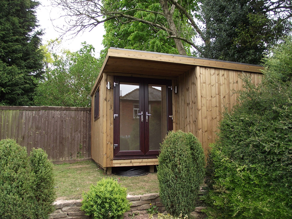 Garden summer rooms houses sheds pontypool south wales for Garden shed 2 rooms