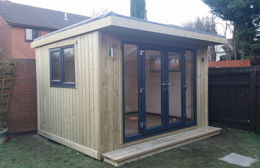 Fully insulated garden room made to measure garden buildings for Insulated garden buildings