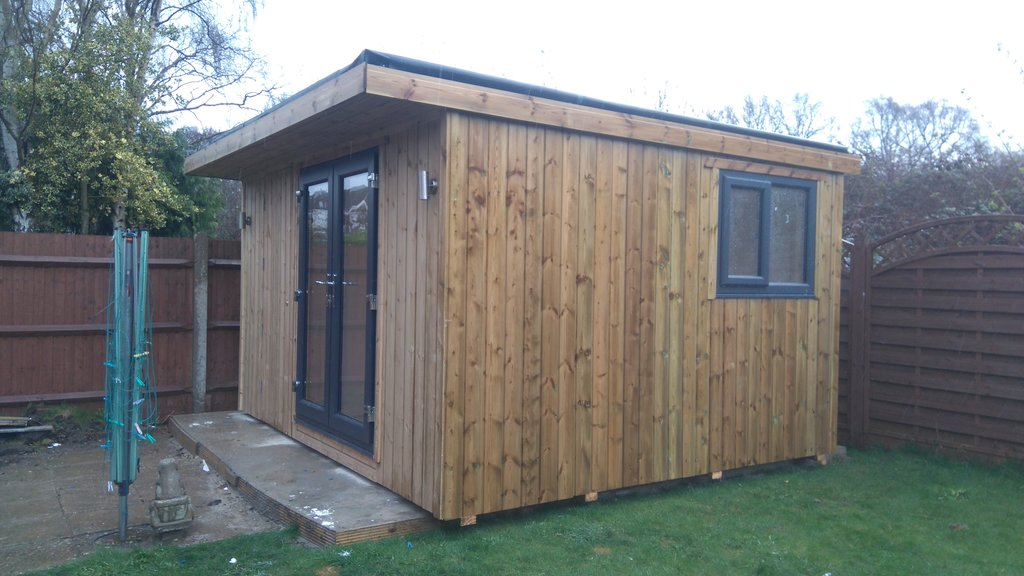 Garden office with hidden storage area made to measure for Garden office and storage