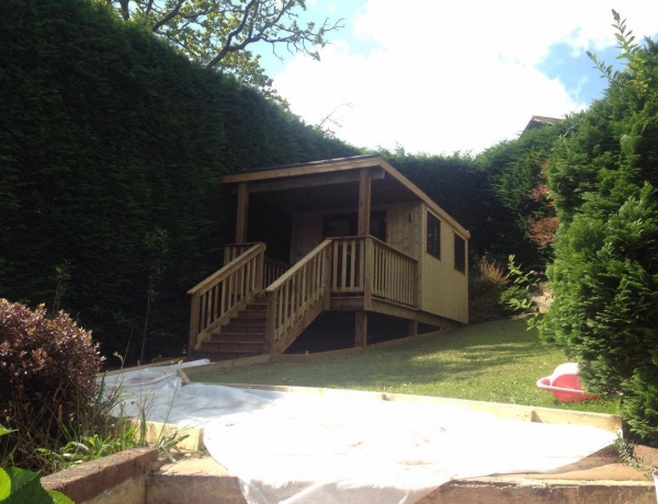 Garden Room with Steps