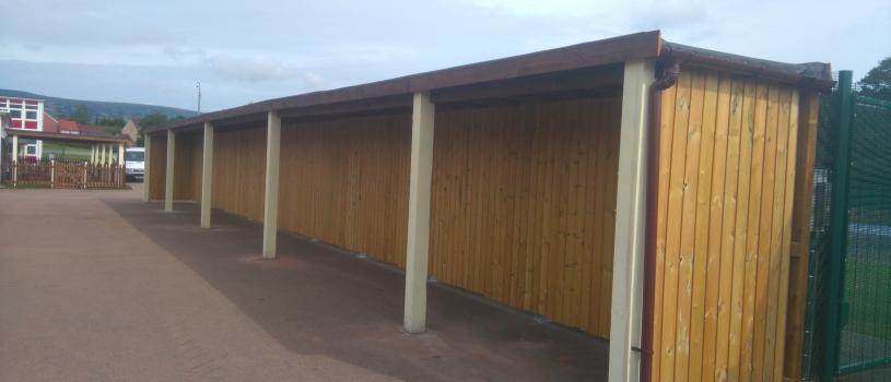 Fully Enclosed School shelter