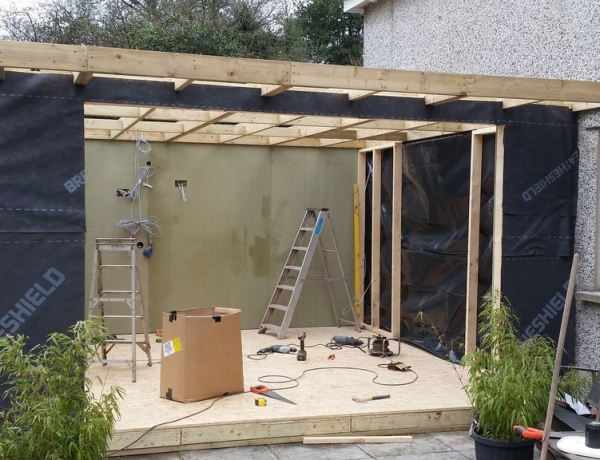 Garden Bar Room attached to side of house