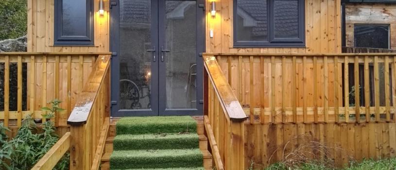 Updated picture of Garden Room erected in June 2018
